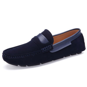 Leather Shoes Casual Flat Comfortable Footwear Men Driving Shoe (AK8038) pictures & photos