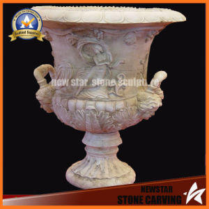 Lady and Leaves Surface Stone Carving Flower Pot Stand for Garden (NS-11P10) pictures & photos