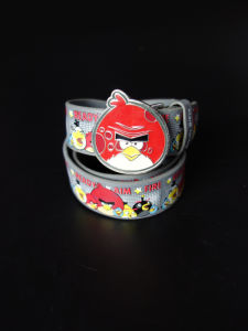 Fashion Pattens Children PU Leather Belt with Press Buckle