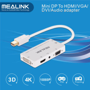 Mini Displayport Dp to HDMI/DVI/VGA /Stereo Audio Adapter Cable pictures & photos