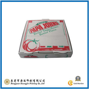White Paper Pizza Packaging Box (GJ-Box230) pictures & photos
