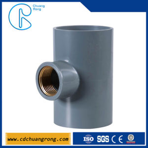 PVC Electrical Fittings PVC Copper Thread Tee (female tee) pictures & photos