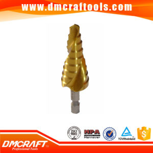 Titanium Plated HSS Spiral Flute Step Drill Bit pictures & photos