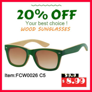 Colourfull Bamboo Sunglasses with Polarized Porized Lens pictures & photos