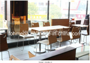 Modern Fast Food Restaurant Furniture Dining Tables and Chairs (FOH-XM03-22)