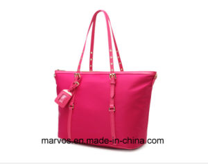 Fabric Handbags with Leather /Tote Fabric Handbags (BS1203)