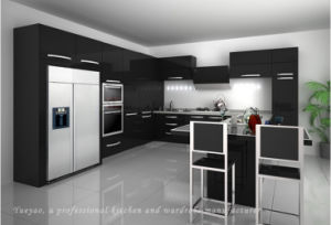 Competitive Customized Lacquer Kitchen Furniture (S040)