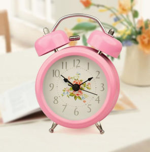 Wholesale Logo Printed Table Alarm Clock with Battery
