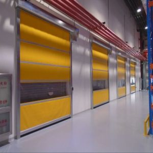 Automatic Flexible PVC Window High Speed Rolling up Door (HF-1048) pictures & photos