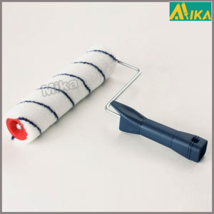 9mm Blue Strips Acrylic Paint Roller with Plastic Handle