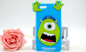 Big Eye Monster 3D Silicone Cartoon Phone Case for iPhone Mobile Cover (XSD-043)