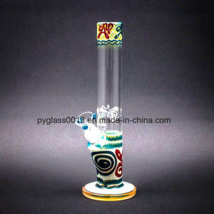 Hot Sale Beautiful Design 9mm Thickness Glass Smoking Water Pipe