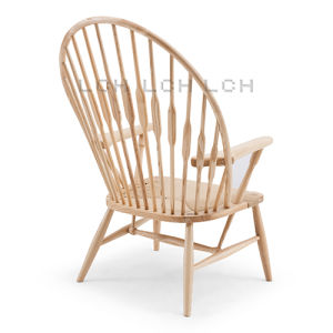China Classic Hans Wegner Wood Peacock Chair Chaise