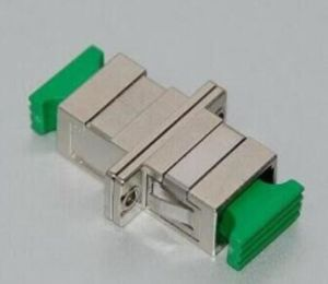 Sc/APC Simplex Metal Fiber Optical Adapter with Flange pictures & photos