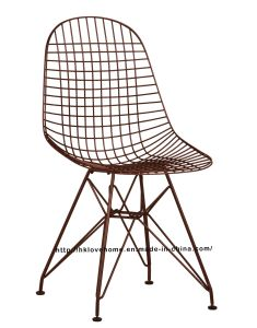 Replica Modern Restaurant Knock Down Steel Wire Eames Side Chair pictures & photos
