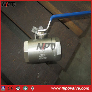 Two Pieces Forged Stainless Steel Threaded Ball Valve pictures & photos