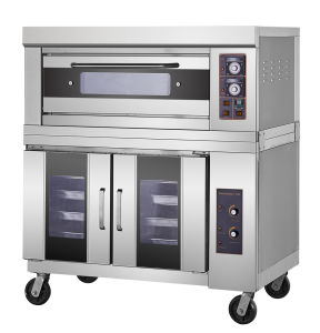 Stainless Steel One-Layer-Two Trays 400 º Cgas Oven with Proofer pictures & photos