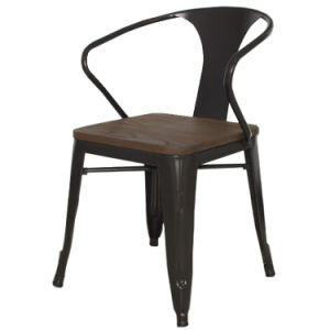 Beauty Metal Dining Chair Comfortable Radian Back Living Room Chairs