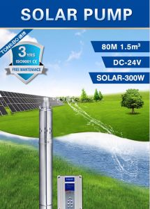 Solar Water Pump Brushless Submersible 210W 24V pictures & photos