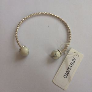 Open Metal Gold Bracelet with Stone Fashion Jewelry
