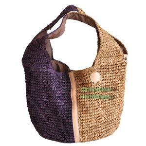 Woven Raffia Hobo Bag