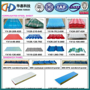 colorful Corrugated Roofing Steel Sheet Used on Building pictures & photos