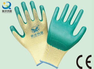 13G Nitrile Polyester Shell, Nitrile Coated, Work Gloves (N6010) pictures & photos