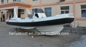 Liya 7.5m Rib Fiberglass Boat Engine Outboard Inflatable Yacht pictures & photos