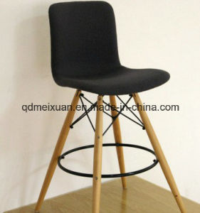 Back of a Chair Tall Wooden Black Solid Wood Bar Chair Tall European Back Bar Chair at The Front Desk Chair Stool Eames Chair (M-X3334) pictures & photos