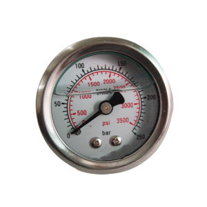 1.5inch-40mm Half Stainless Steel Back Liquid Filled Pressure Gauge pictures & photos