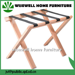 Solid Wood Folding Luggage Rack For Bedroom