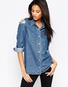 09bd1f2430 China Wholesale Ladies Denim Shirt Fashion Clothes Top - China Women ...