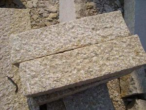 Yellow Bushhammered Granite Kerbstone Stone