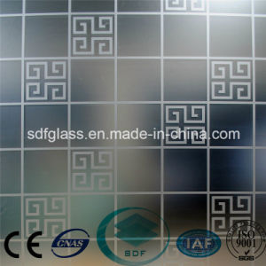 Acid Etched Glass/Frosted Glass/Art Glass with Ce, ISO/ Sdf008