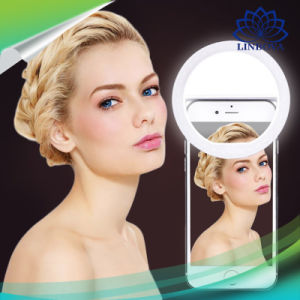 Ring Light USB Selfie LED Light Ring Dimmable Lamp Flash Fill Clip Camera for Smartphone