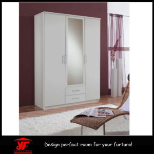 3 Doors Wooden Closet Indian Designs Bedroom Wardrobe Cabinet With Mirror