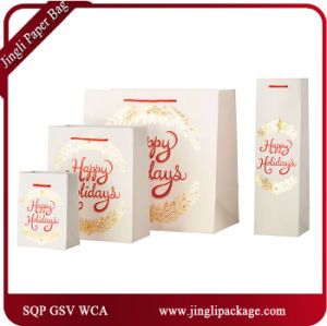 Happy Time Birthday Gift Shopping Carrier Gift Bags with Satin Ribbon Handle and Hangtag pictures & photos