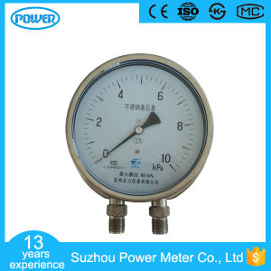 "6""150mm Stainless Steel Lower Differential Pressure Gauge with Flange pictures & photos"