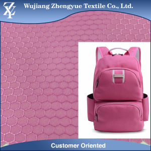Polyester Dobby Honey Comb Oxford Fabric with PU/PVC Coating pictures & photos
