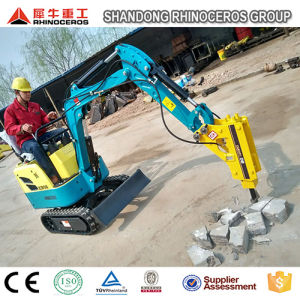 0.8t 1.5t Hydraulic Excavator with Hammer, Mini Excavator Prices pictures & photos