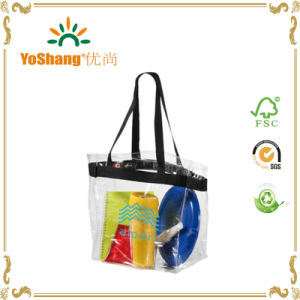 Day Clear Tote Bag, PVC Shopping Bag, Transparent Shopping Bag pictures & photos