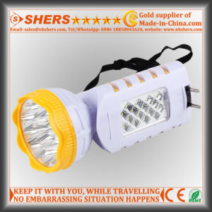 Rechargeable 9 LED Flashlight with 12 LED Desk Lamp (SH-1955)