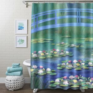 Summer Pool Printed Fashion Custom Made Polyester Shower Curtain