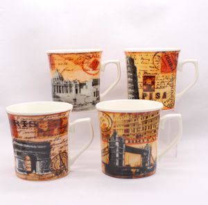 12oz Famous Building Design Full Decal Print Coffee Mugs, Shiny Surface pictures & photos