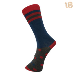 Men′s Colorful Comb Cotton Casual Sock pictures & photos