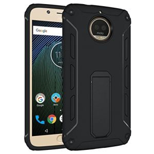 huge discount fdbe9 9ea7a Moto G5s Plus Case, Protective Armor with Kickstands Bumper Cover for  Motorola Moto G5s+ Phone - Black