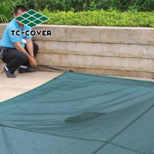 Most Popular Mesh Swimming Pool Covers for Winter Use pictures & photos