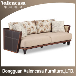 China Home Furniture Wooden Sofa
