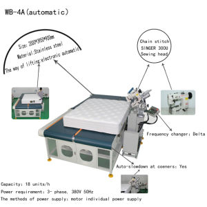 Automatic Mattress Tape Edge Machine (WB-4A) pictures & photos
