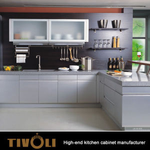 European Style Frameless Laminate Board Flat Foor Kitchen Cabinet TV-0664